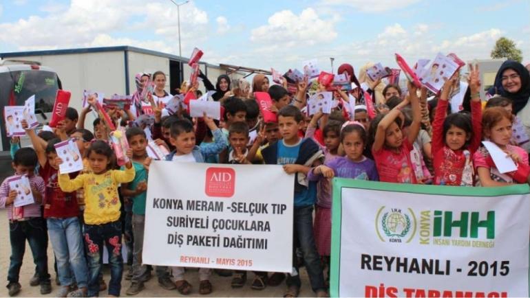 Meram – Selçuk Tıp AID öğrencileri Suriyeli çocuklarla buluştu