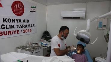 Suriye'de 140 kişinin dişine dolgu yapıldı