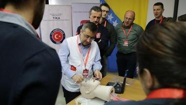 Bosna Hersek'te arama-kurtarma eğitimleri düzenledik