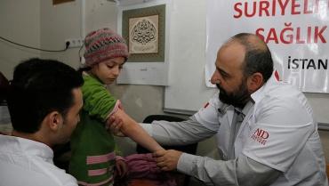 Suriyeli öğrencilere sağlık taraması