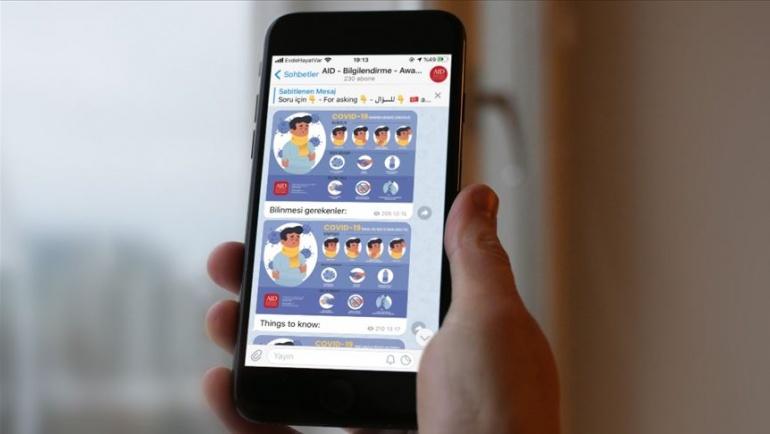 AID koronavirüsle mücadele için Telegram kanalı açtı