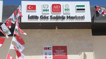 İdlib'te göz sağlığı ve protez merkezi açılışı gerçekleştirdik